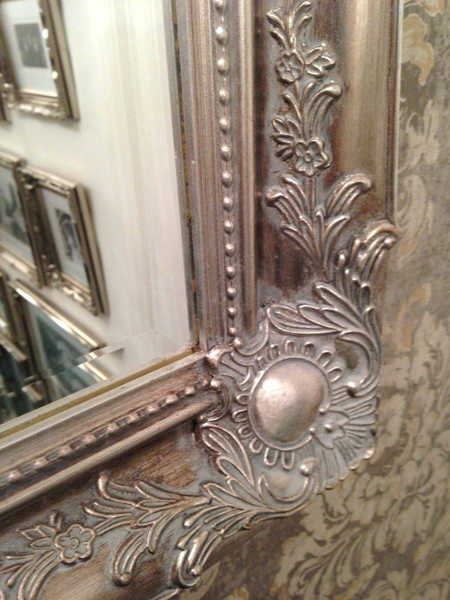 Wall Mirrors ~ Shabby Chic Long Wall Mirrors Cheap Shabby Chic With Regard To Big Shabby Chic Mirrors (View 14 of 15)