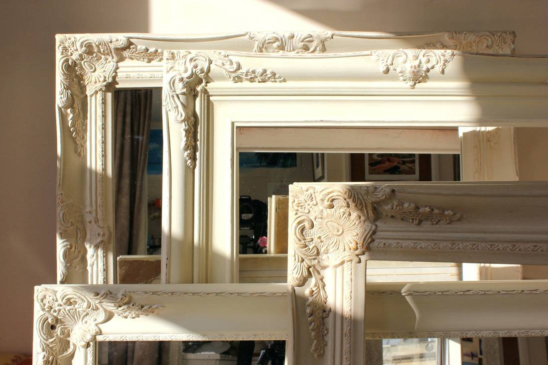 Wall Mirrors ~ Shabby Chic Mirror With Shelf Shabby Chic Grey Throughout Shabby Chic Bathroom Mirrors (View 8 of 15)