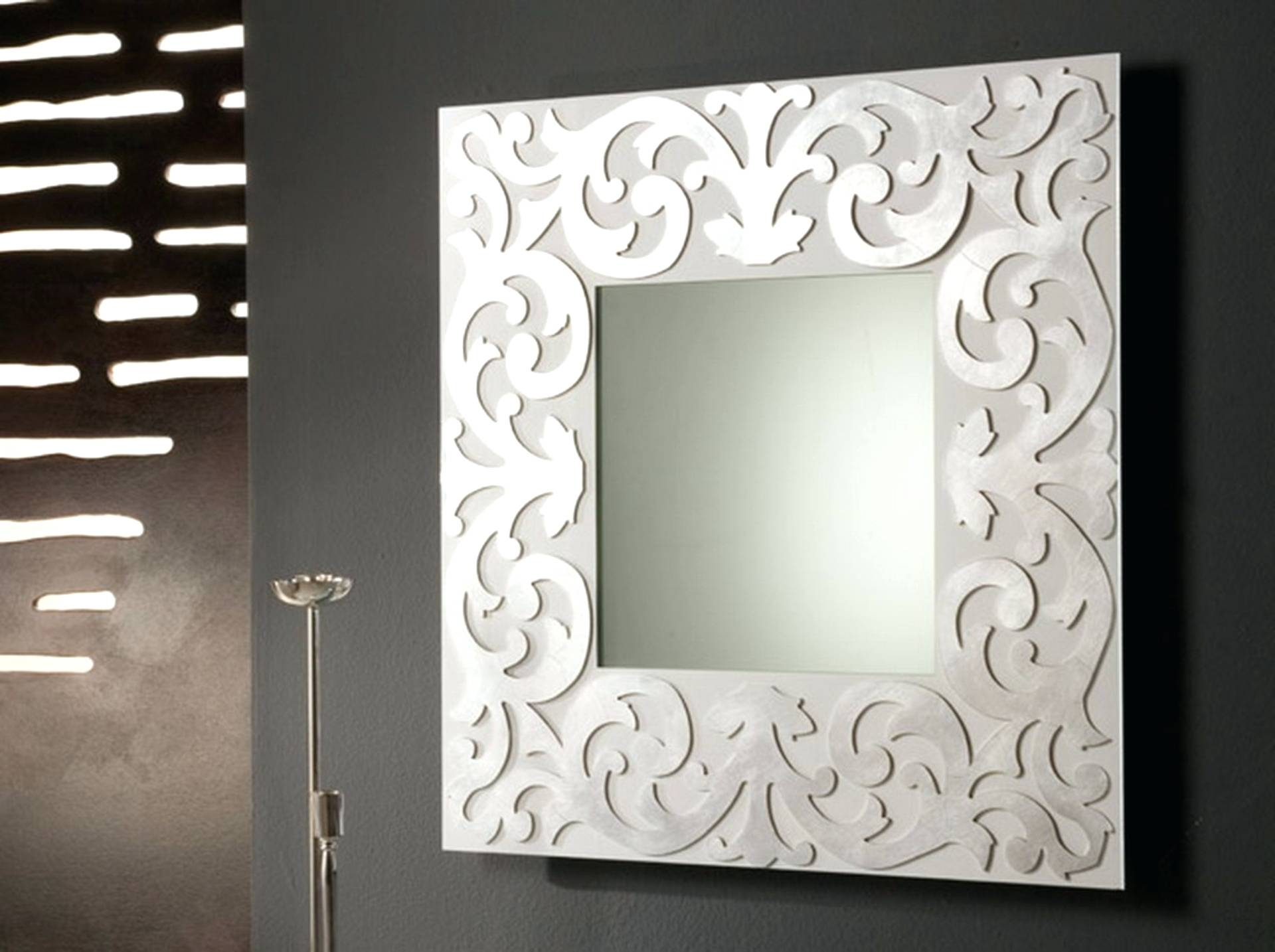 Wall Mirrors ~ Silver Wall Mirrors Decorative Furniture Gold Floor Inside Large Square Mirrors (View 15 of 15)