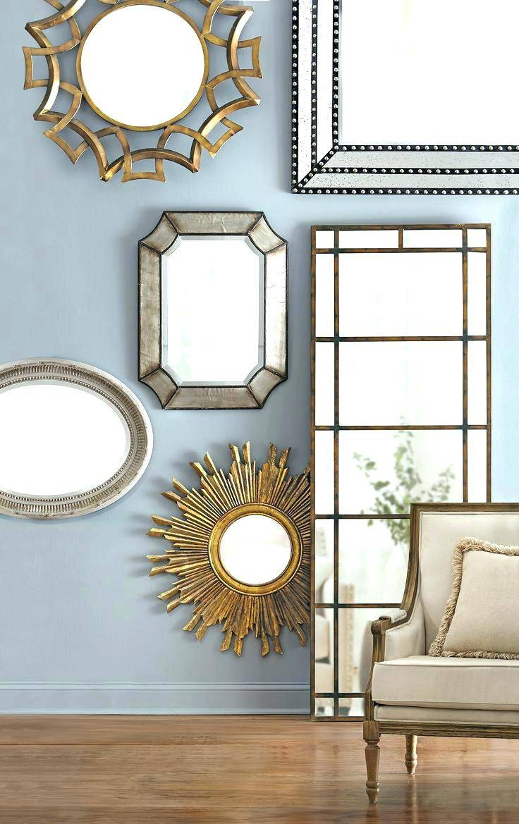 Wall Mirrors ~ Stick On Wall Mirror Bunnings Diy 25pcs Artistic Regarding Large Artistic Mirrors (View 11 of 15)