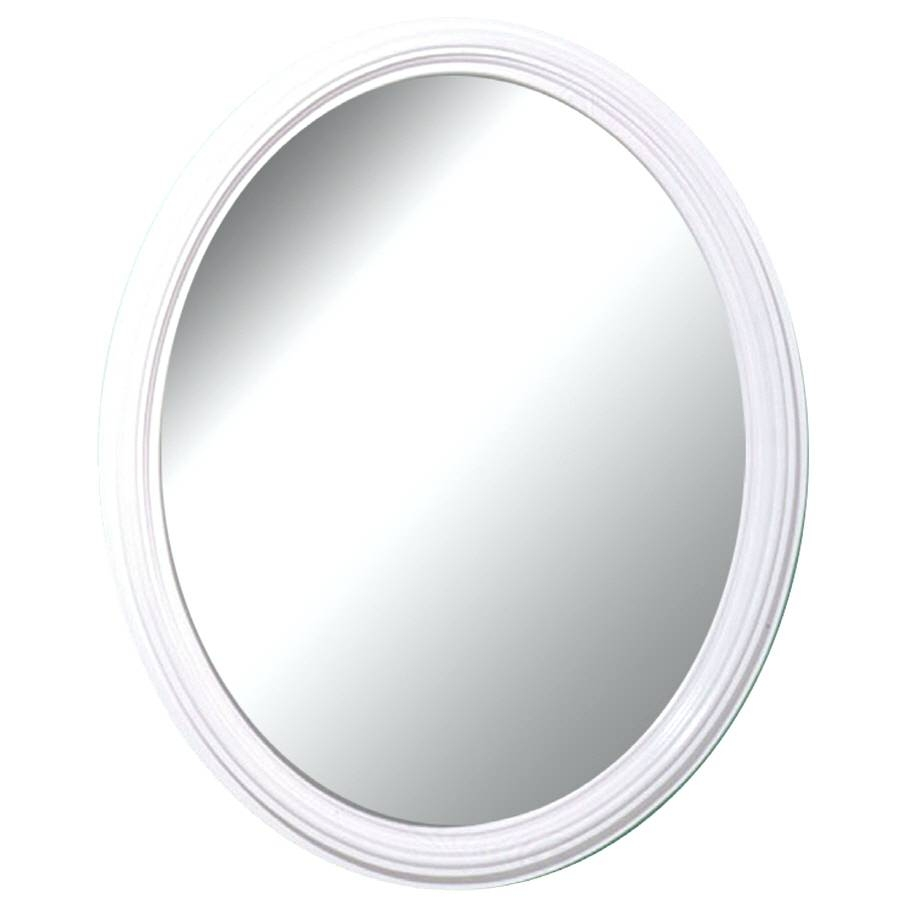 Wall Mirrors ~ Style Selections White Oval Wall Mirror Full Length for White Oval Wall Mirrors (Image 14 of 15)