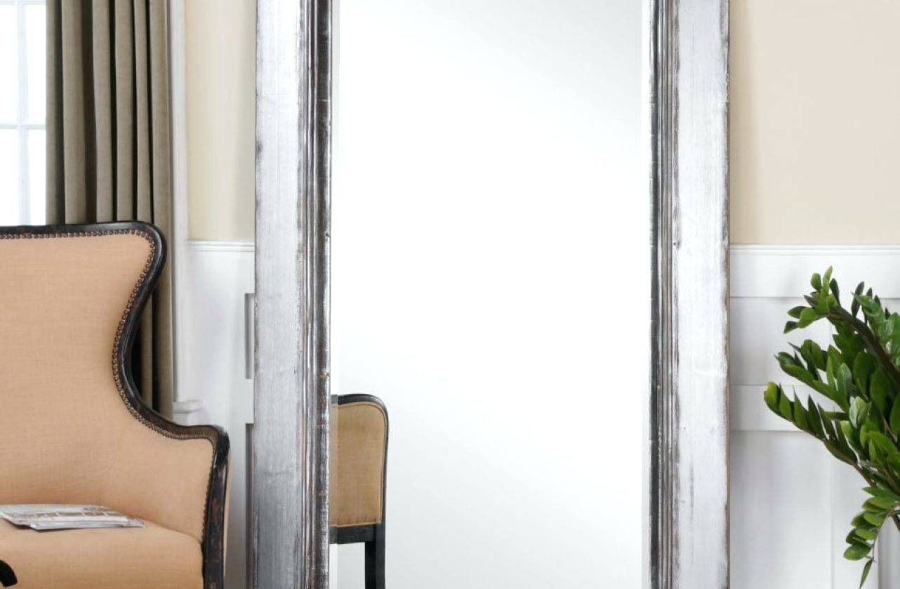 Wall Mirrors ~ Tri Fold Bathroom Wall Mirror Tri Fold Tall Wall in Antique Floor Length Mirrors (Image 15 of 15)