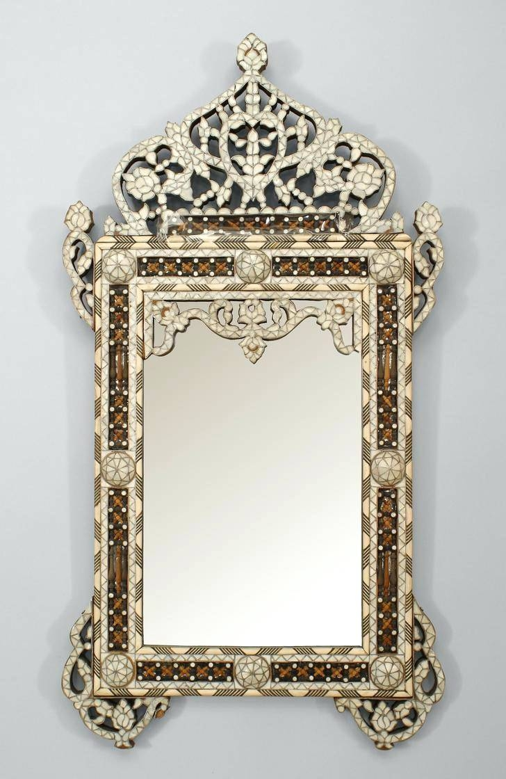 Wall Mirrors ~ Triple Oval Wall Mirror Middle Eastern Syrian In Triple Wall Mirrors (View 14 of 15)