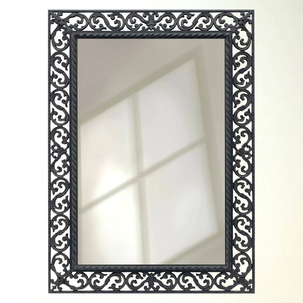 Wall Mirrors ~ Wrought Iron Wall Mirrors Tin Framed Wall Mirror Regarding Rod Iron Mirrors (View 8 of 15)