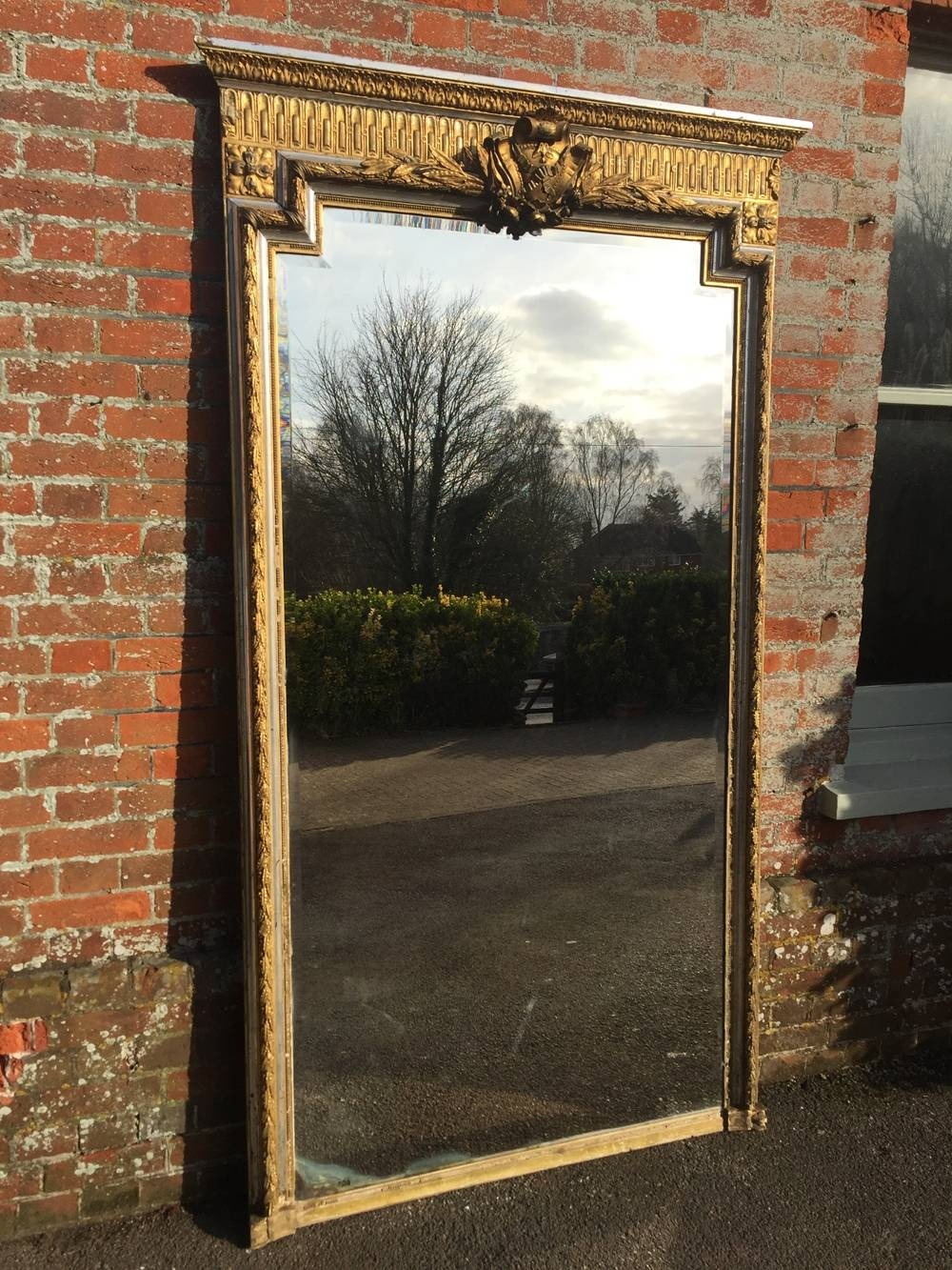 Welcome To Cleall Antiques Pertaining To Large Silver Gilt Mirrors (View 4 of 15)