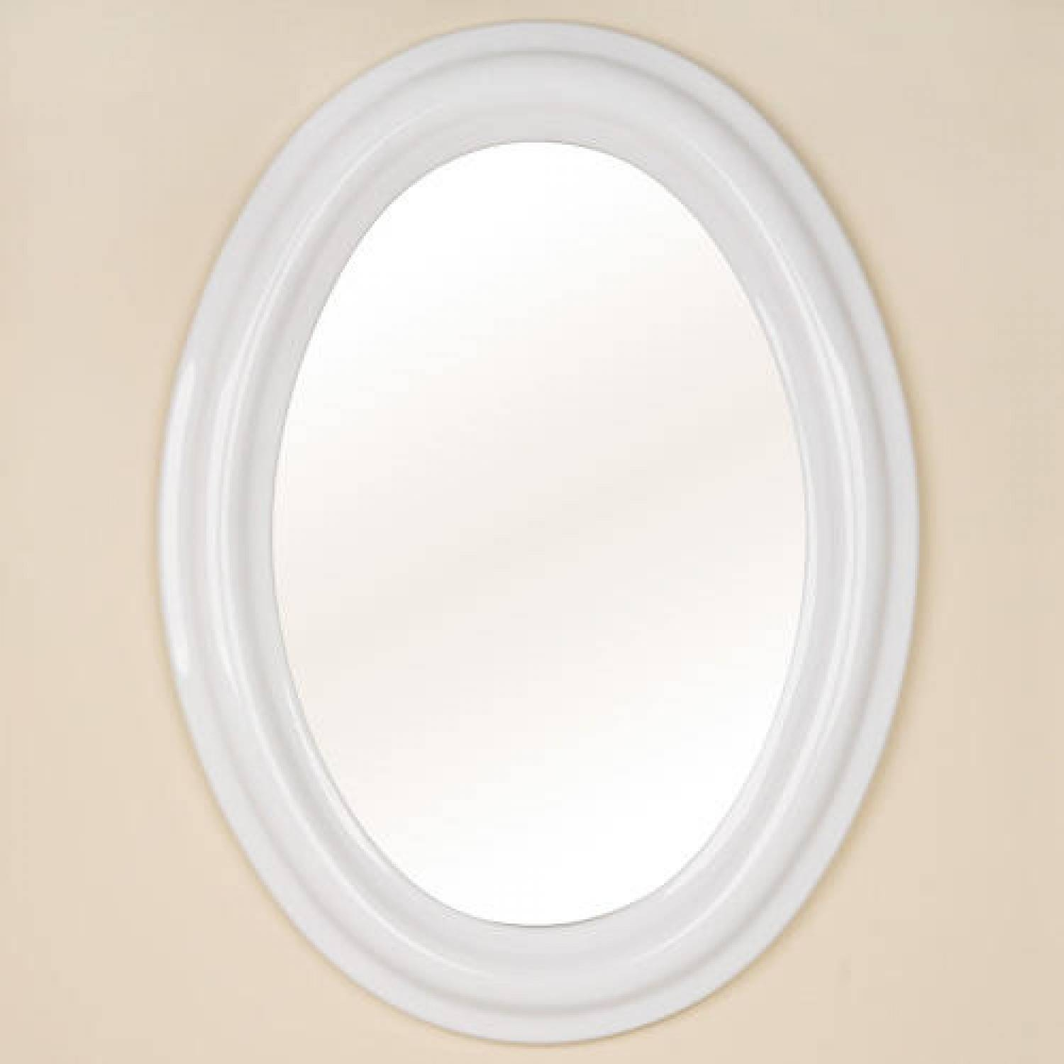 White Bathroom Mirror - Realie intended for Round White Mirrors (Image 14 of 15)