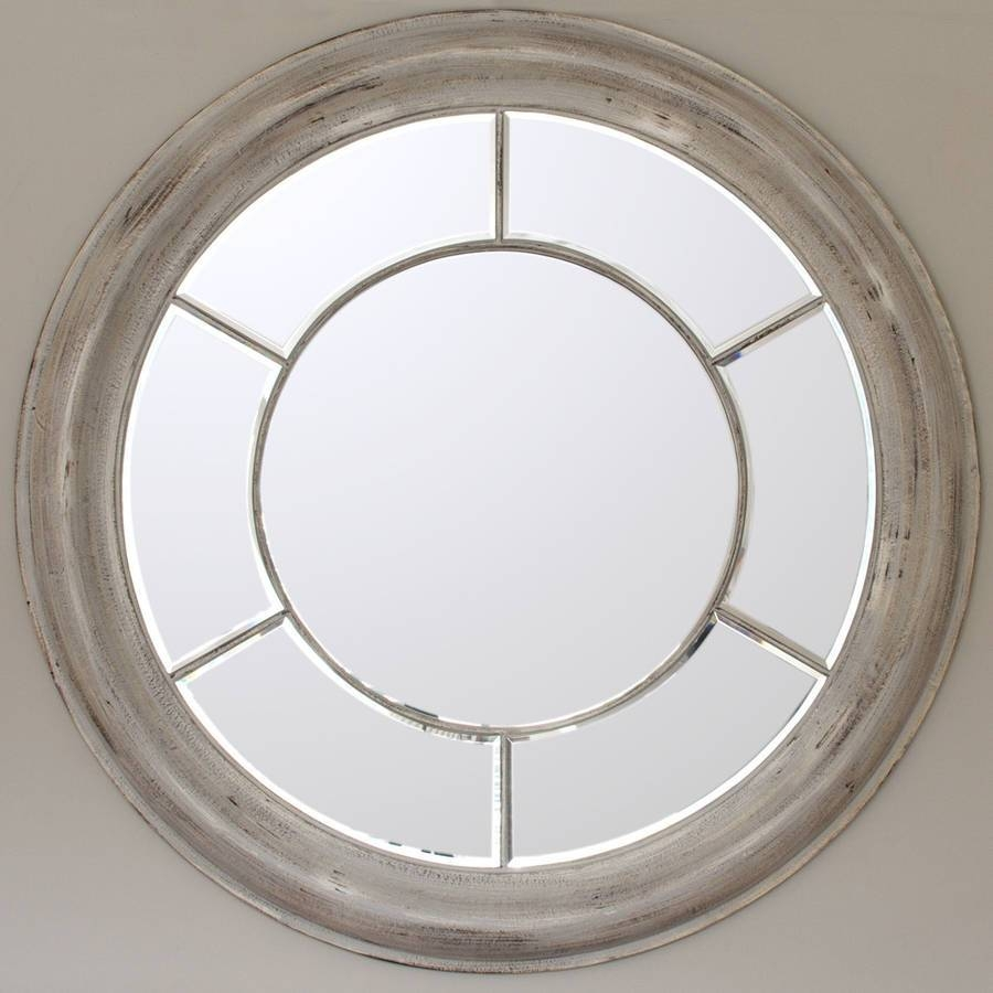 White Washed Round Mirrordecorative Mirrors Online with regard to Round White Mirrors (Image 15 of 15)