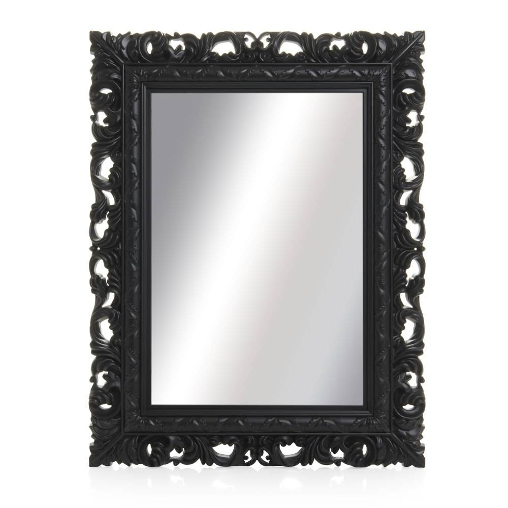 Wilko Ornate Mirror Medium Black 50 X 64Cm At Wilko for Large Black Ornate Mirrors (Image 15 of 15)