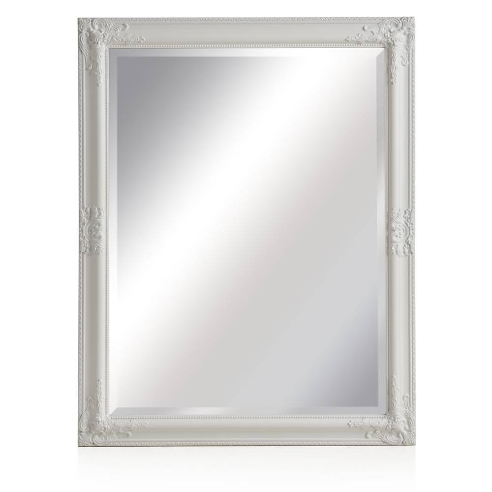 Wilko Rococco Mirror Large White 76 X 96Cm At Wilko for Large White Rococo Mirrors (Image 15 of 15)