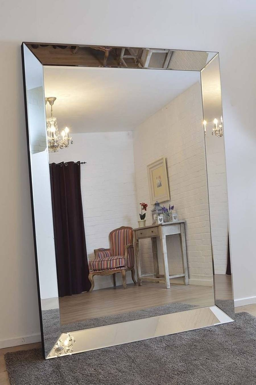 Wondrous Oversized Frameless Wall Mirrors Luxury Large Oversized throughout Cheap Huge Mirrors (Image 15 of 15)