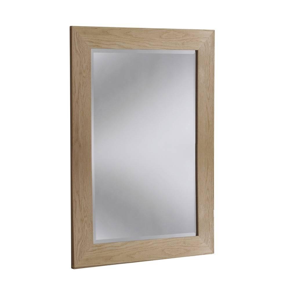 Wood Mirror: Preston Solid Oak Wall Mirrors regarding Oak Wall Mirrors (Image 15 of 15)