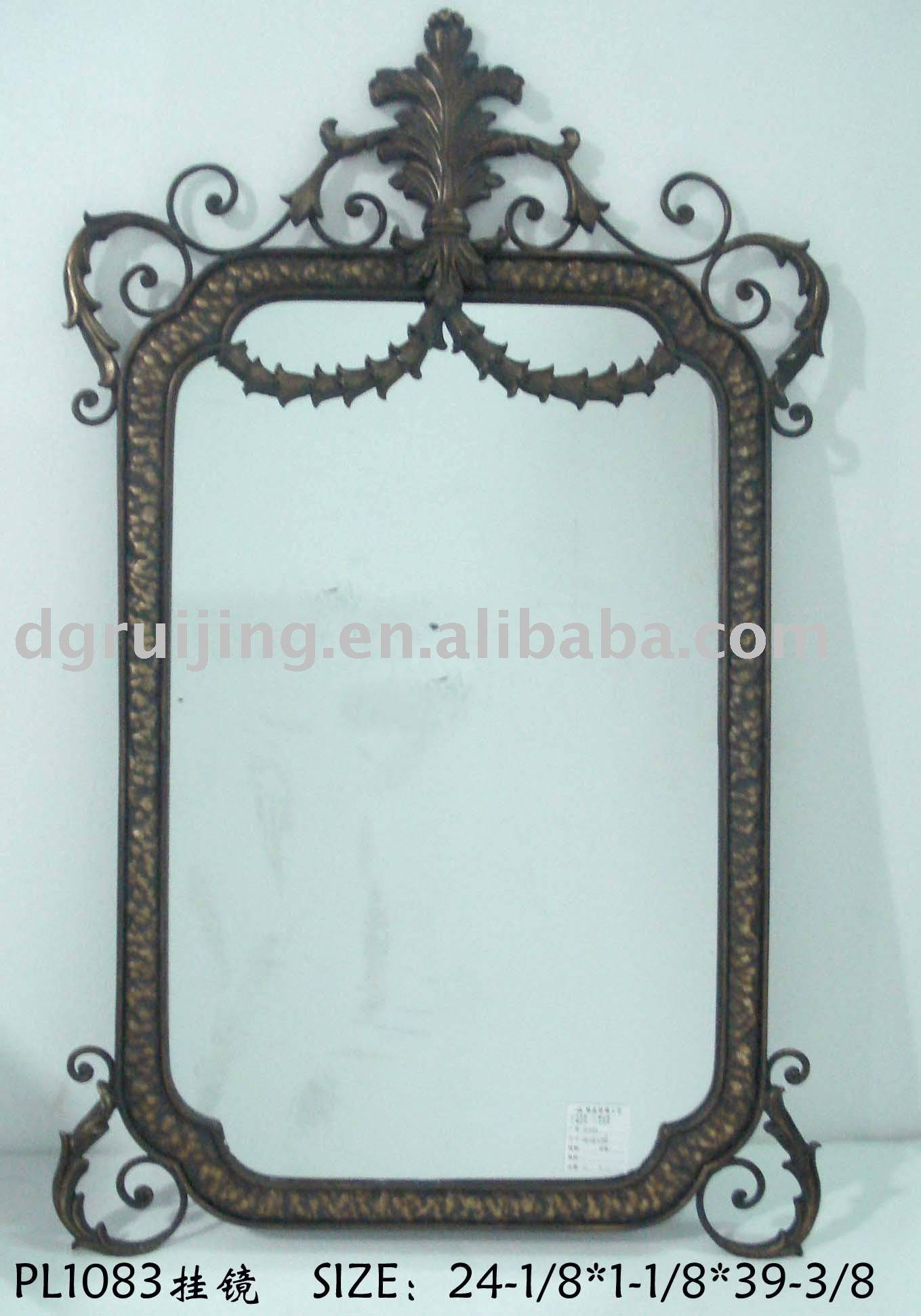 Wrought Iron Mirrors, Wrought Iron Mirrors Suppliers And In Rod Iron Mirrors (View 14 of 15)