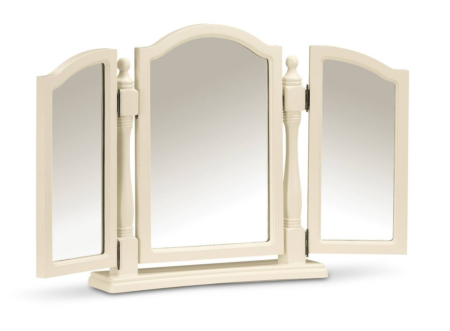 Yazmin White Triple Dressing Table Mirror | Oak Furniture Uk Pertaining To Triple Mirrors (View 10 of 15)