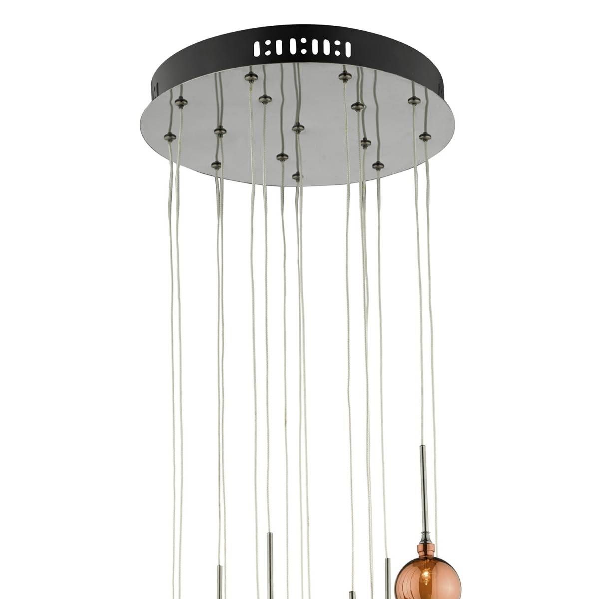 15lt G4 Spiral With Copper, Dark Copper And Bronze Glass15 Light With Regard To Pendant Lights For Ceiling Plate (View 5 of 15)