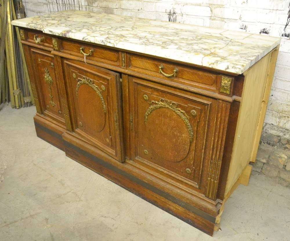 1920S French Marble Top Sideboard | 467207 | Sellingantiques.co (View 1 of 15)