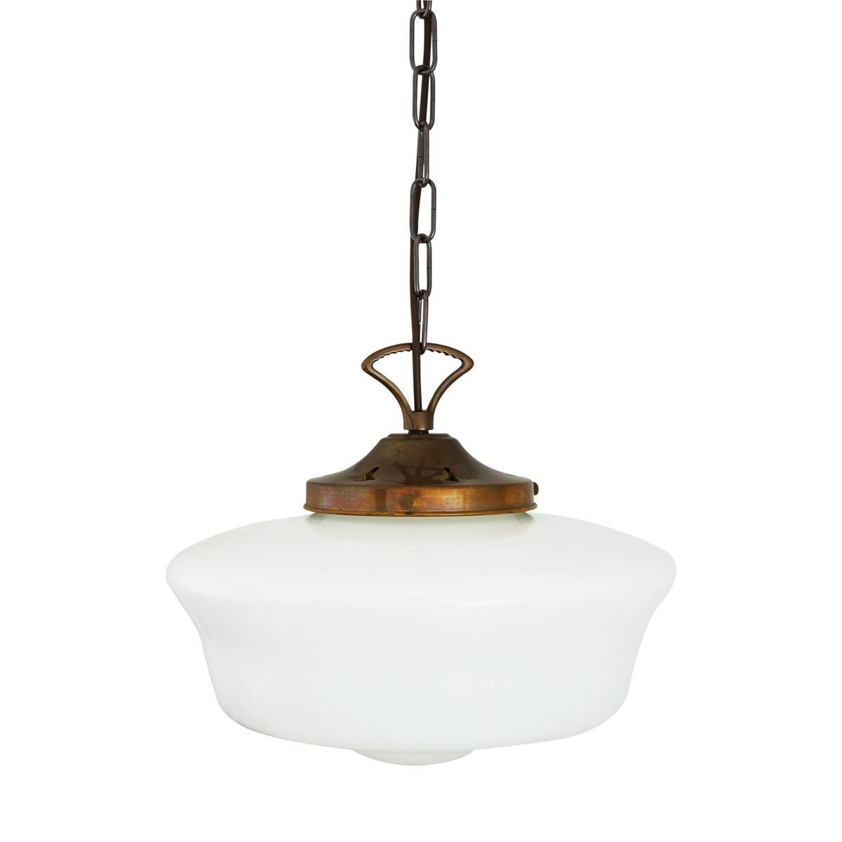 1920's Schoolhouse Pendant Light | Mullan Lighting in Schoolhouse Pendant Lights (Image 4 of 15)