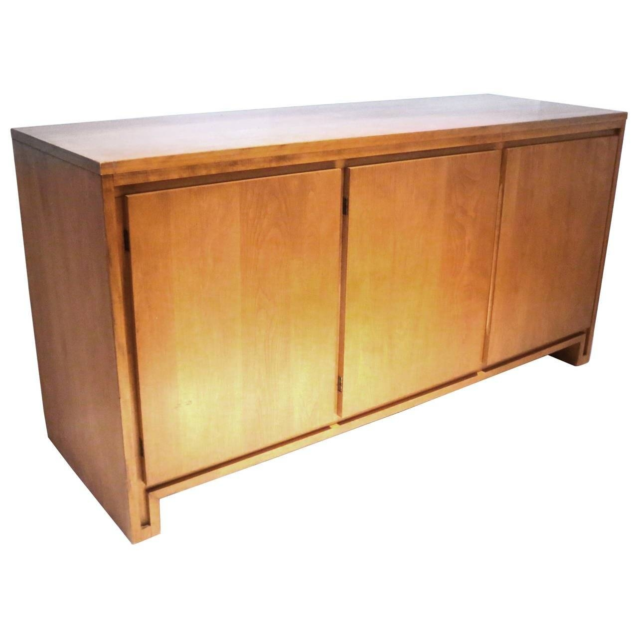 1950s Solid Maple Sideboard Or Credenza Designrussel Wright Intended For Maple Sideboards (View 5 of 15)