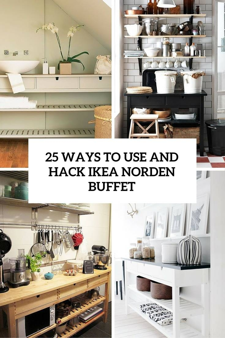 25 Ways To Use And Hack Ikea Norden Buffet   Digsdigs Intended For Ikea Norden Sideboards (Photo 11 of 15)