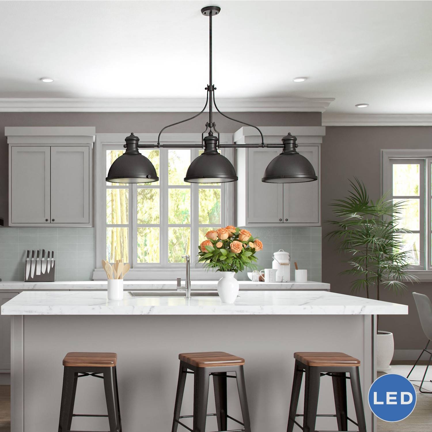 3 Light Pendant Island Kitchen Lighting Concept | The Latest Inside 3 Light Pendants For Island Kitchen Lighting (View 1 of 15)
