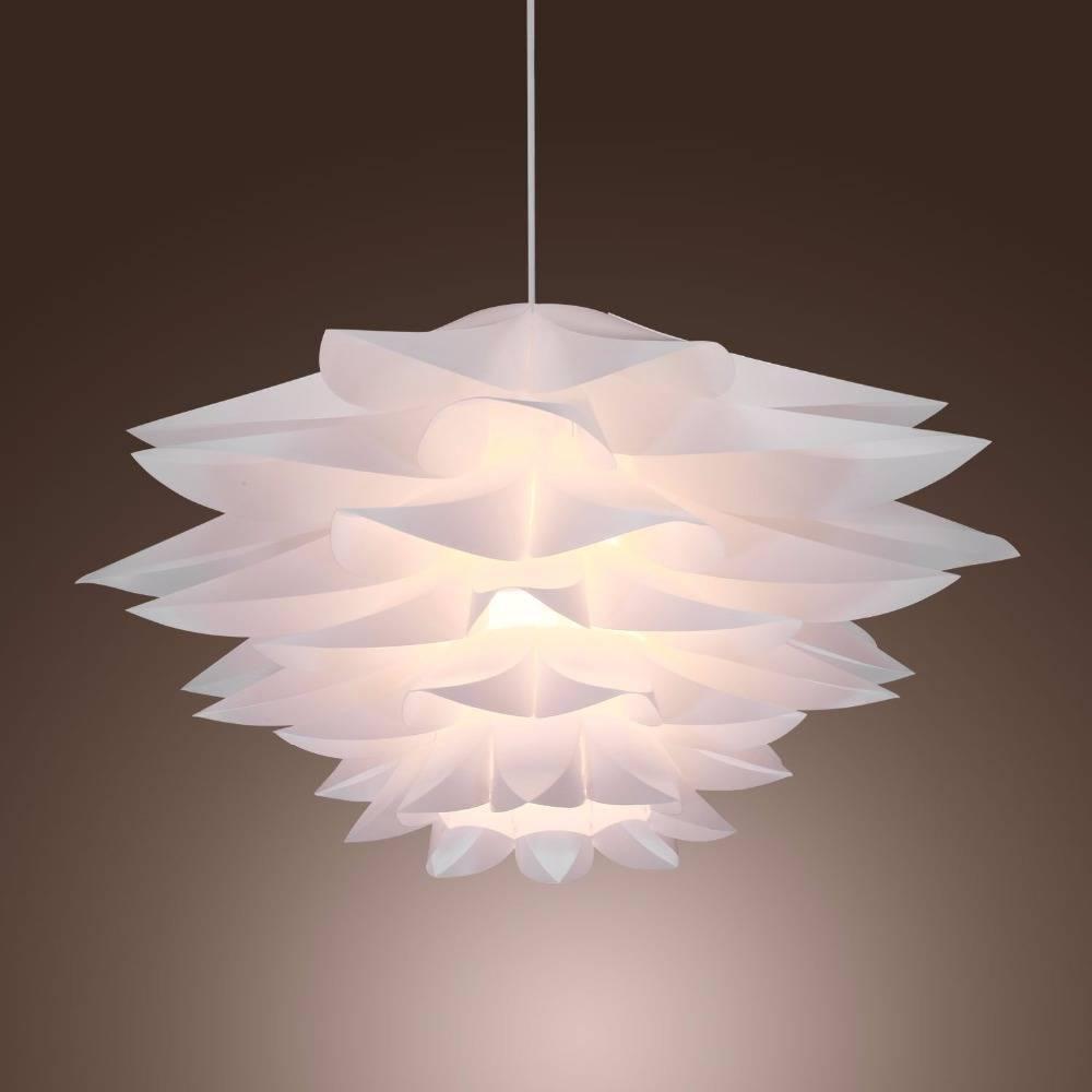 30cm Pp Plastic Lilies Droplight Sitting Room Restaurant Pvc Pertaining To Flower Pendant Lights (View 9 of 15)