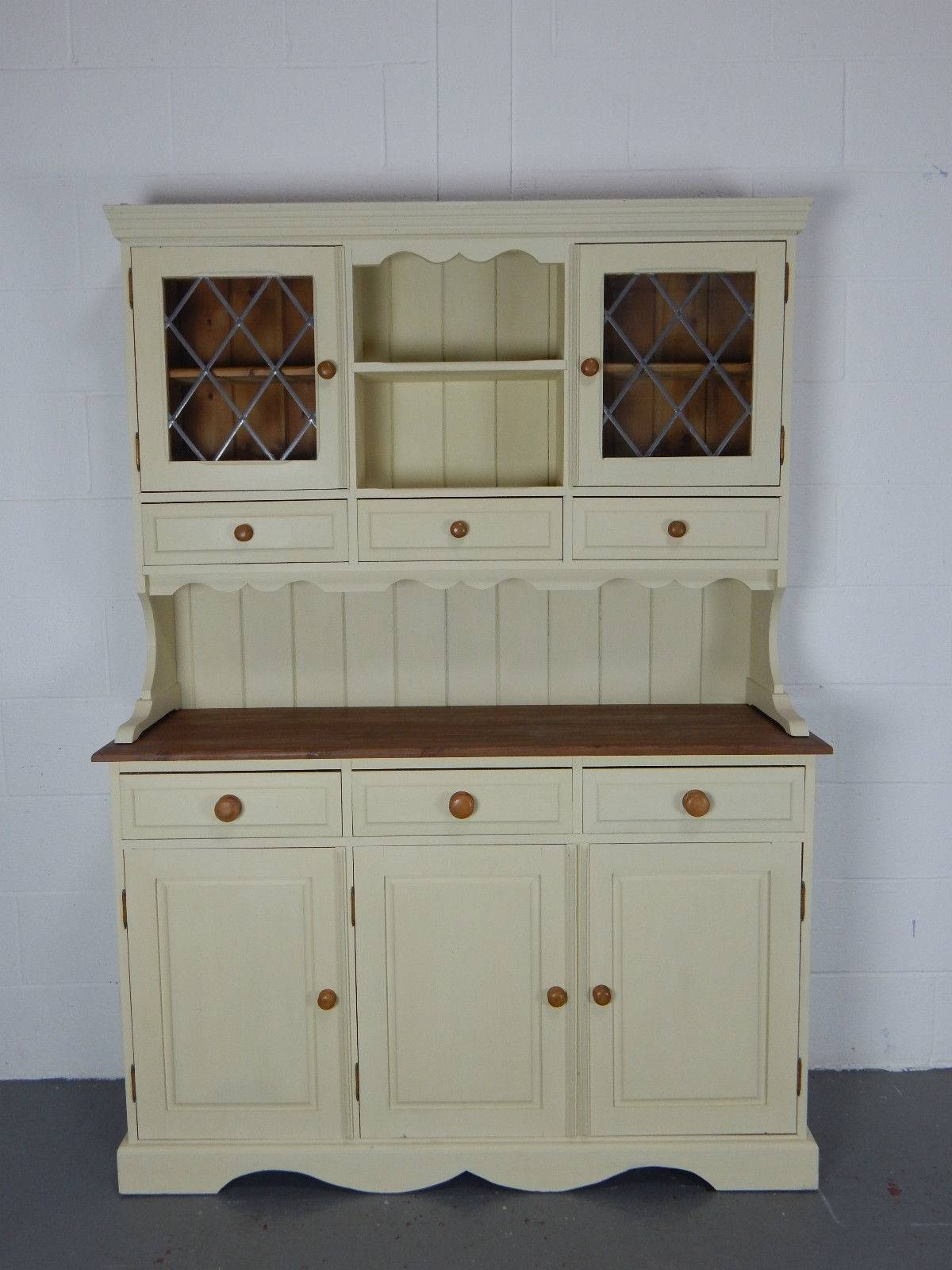 4.5Ft Solid Pine Kitchen Welsh Dresser In Annie Sloan Cream intended for Kitchen Dressers and Sideboards (Image 1 of 15)