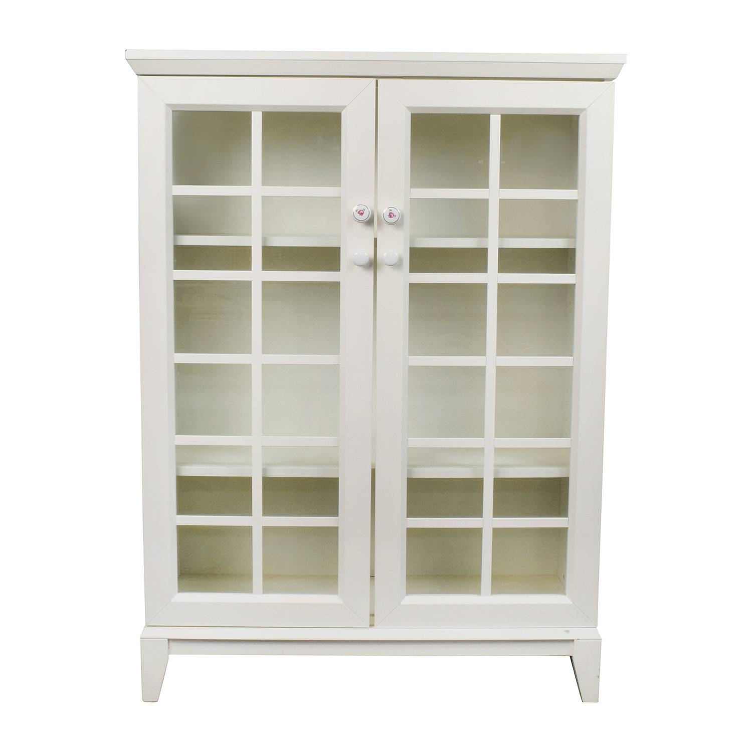 48% Off - Crate And Barrel Crate And Barrel White China Cabinet with regard to Crate and Barrel Sideboards (Image 1 of 15)