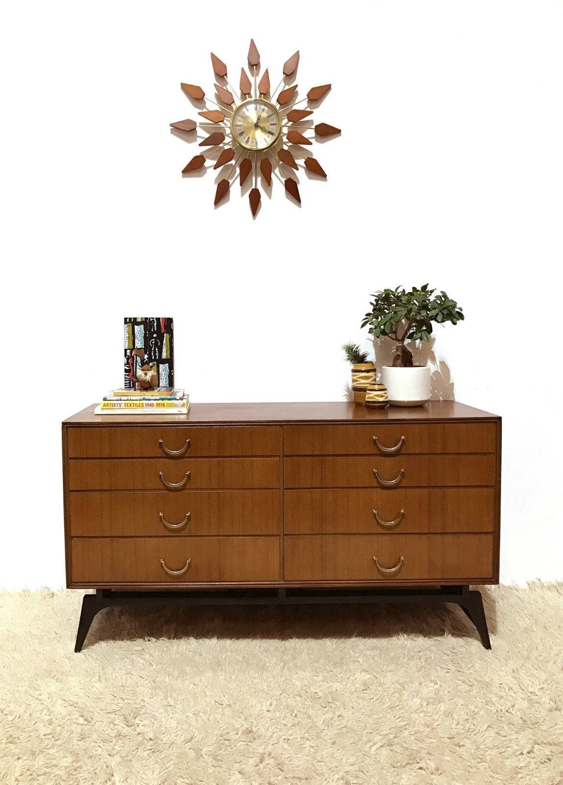 50S 60S Outstanding Mid Century Retro Vintage Sideboard Chest within 50S Sideboards (Image 3 of 15)