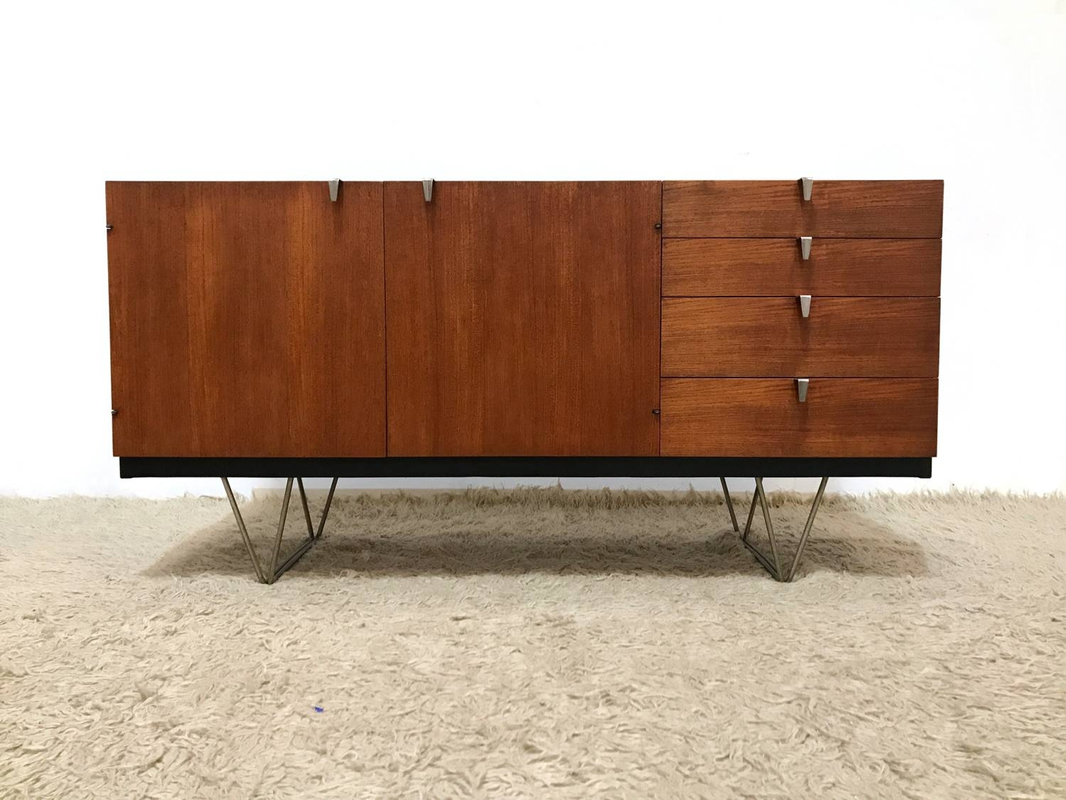 50S 60S Rare Elegant Mid Century Modernist Stag S Range Sideboard intended for 50S Sideboards (Image 5 of 15)