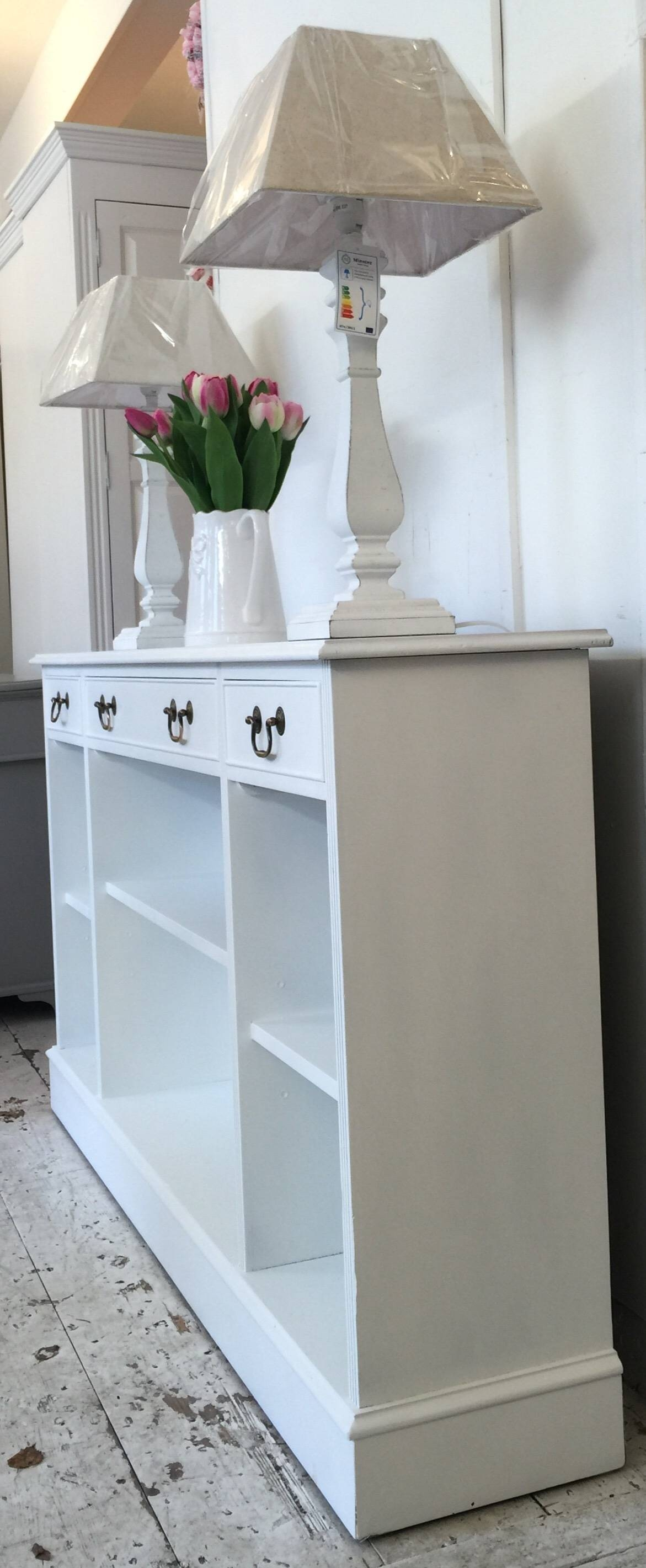 5Ft 'all White' Shallow Sideboard - Bookcase - Home Sweet Homehome throughout Shallow Sideboards (Image 2 of 15)