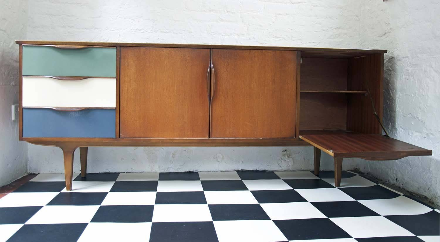 60's Upcycled G Plan Sideboard – Bring It On Home Inside Quirky Sideboards (View 8 of 15)