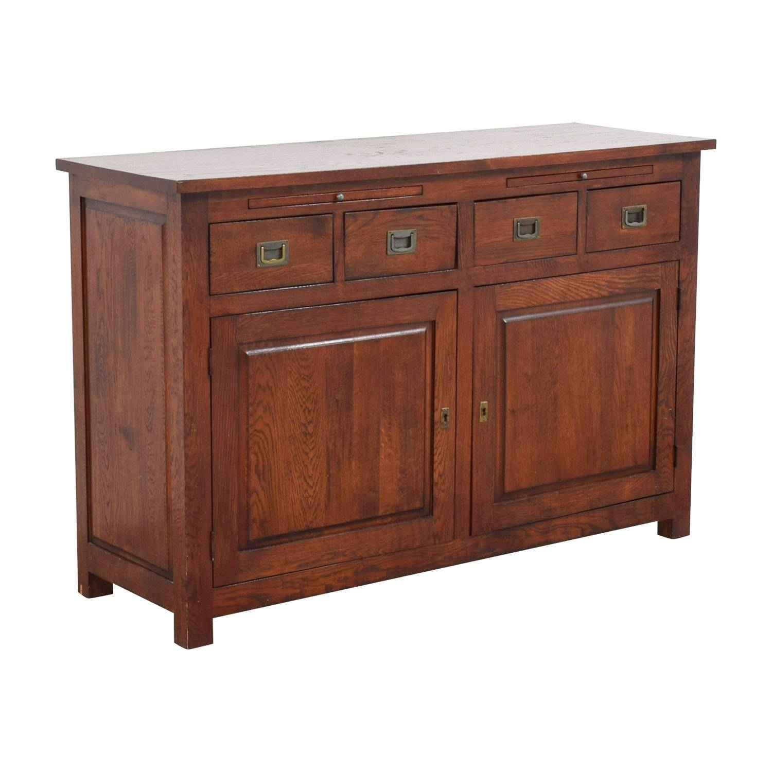 62% Off - Crate & Barrel Crate & Barrel Wooden Buffet / Storage throughout Crate and Barrel Sideboards (Image 2 of 15)