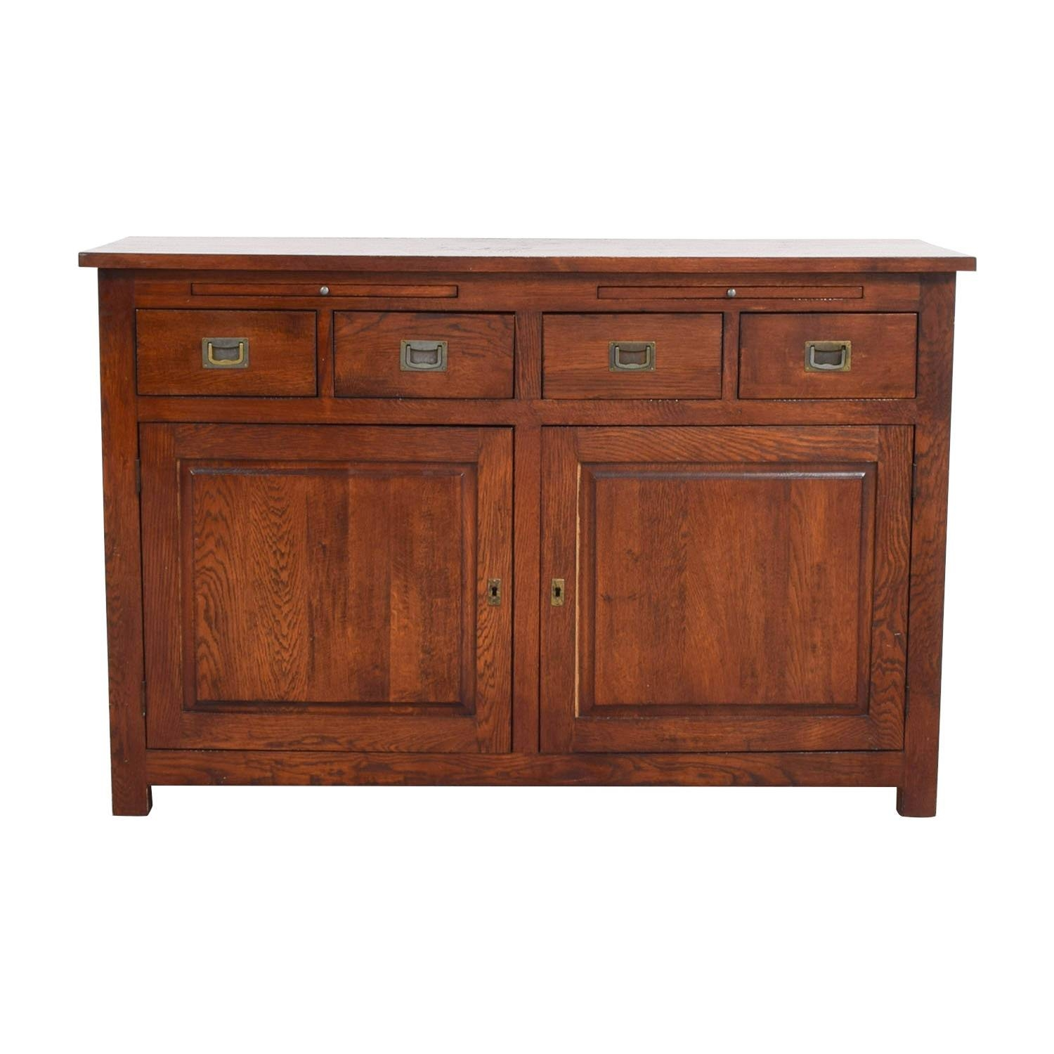 62% Off - Crate & Barrel Crate & Barrel Wooden Buffet / Storage within Crate And Barrel Sideboards (Image 3 of 15)
