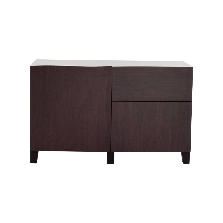 66% Off - Ikea Ikea Dark Brown Storage Sideboard / Storage regarding Ikea Sideboards (Image 1 of 15)