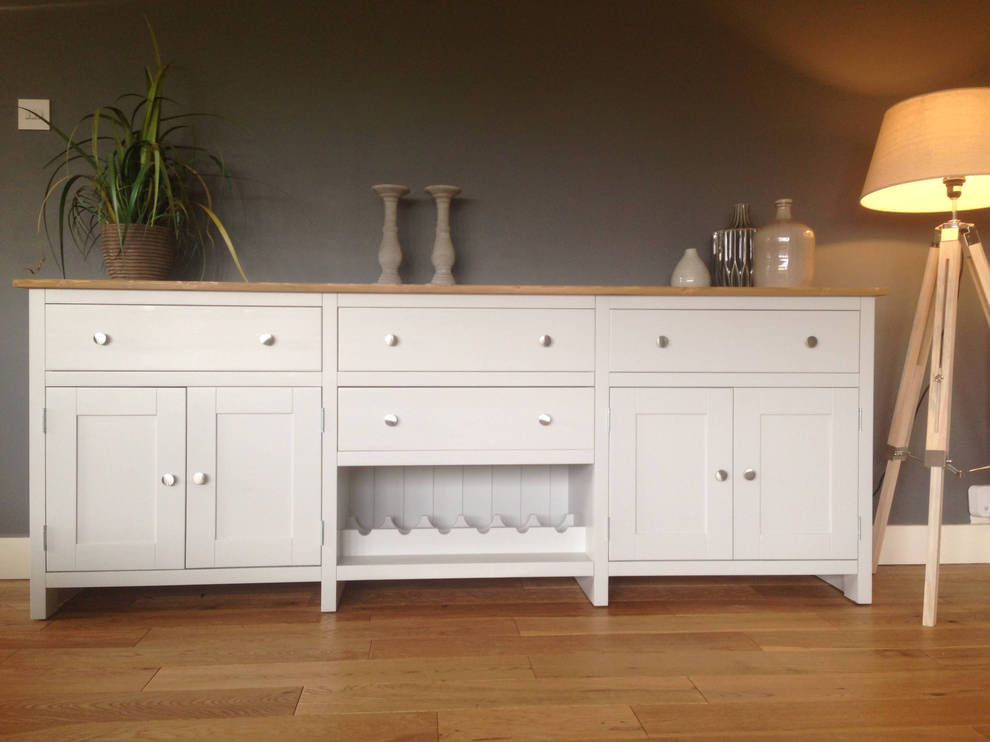 7ft Solid Pine Sideboard With Wine Rack – Nest At Number 20 Within Pine Sideboards (View 11 of 15)