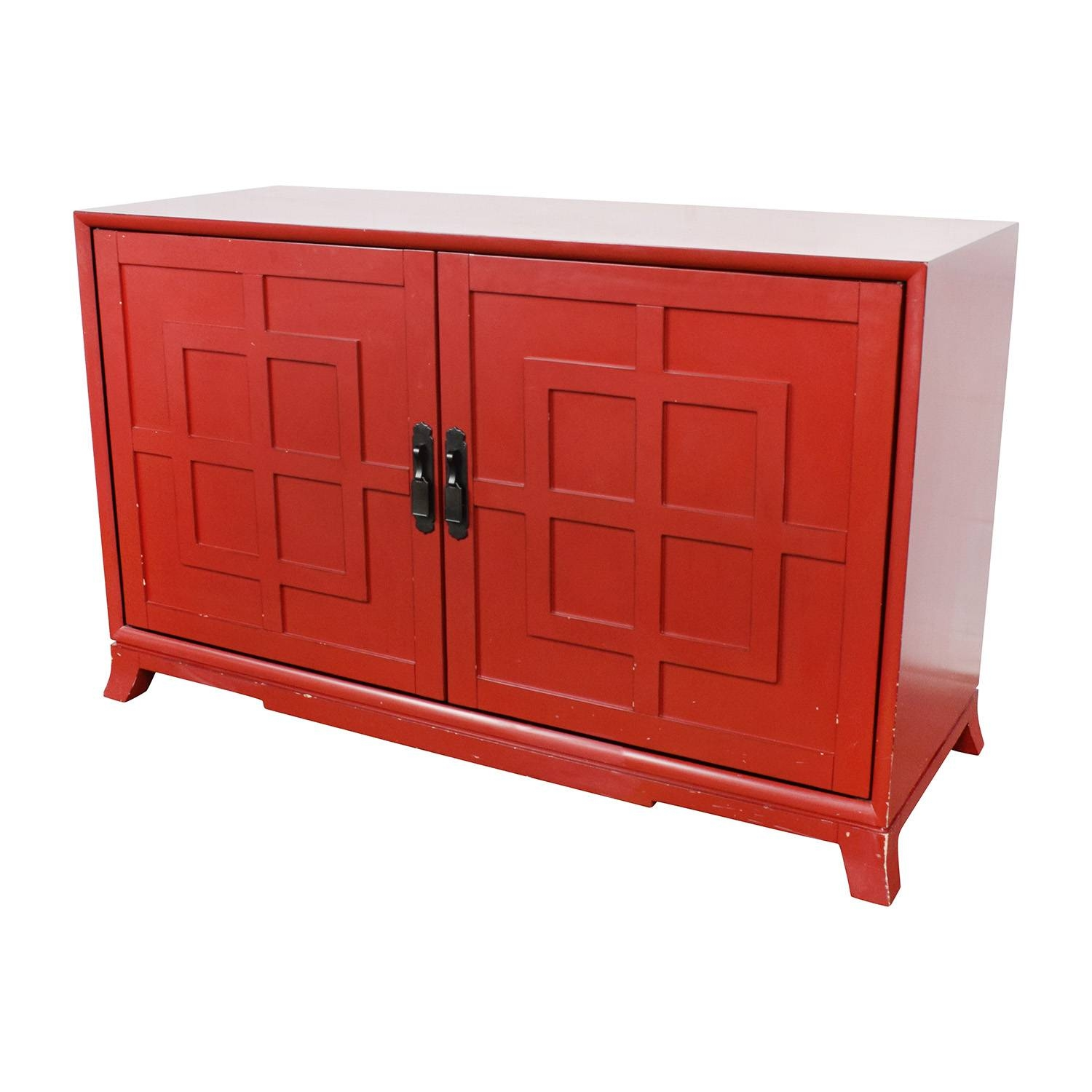 83% Off - Crate And Barrel Crate & Barrel Red Media Storage / Storage within Crate and Barrel Sideboards (Image 9 of 15)