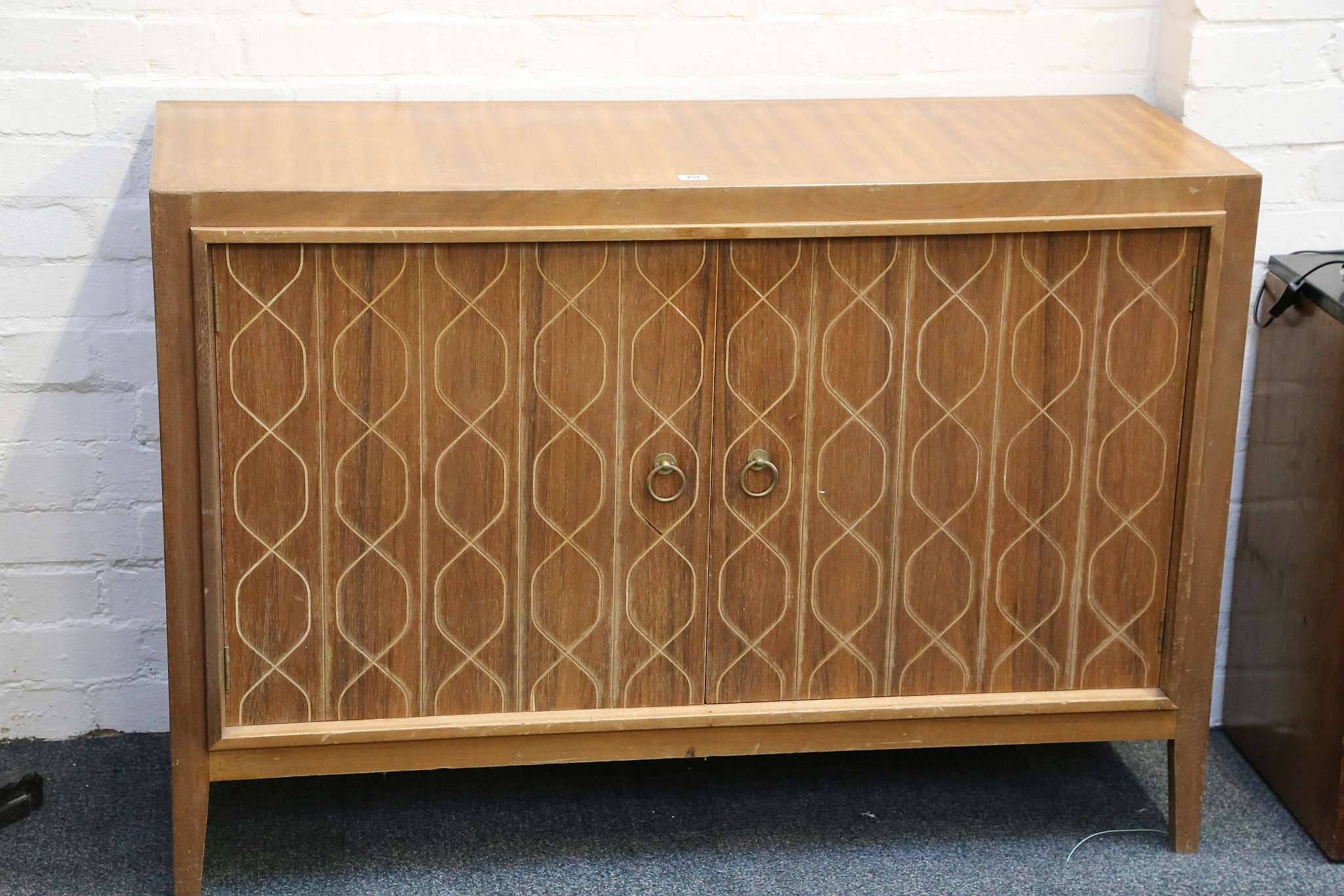 A 1950S Gordon Russell Teak Double Helix Sideboard, With Incised intended for Gordon Russell Helix Sideboards (Image 1 of 15)