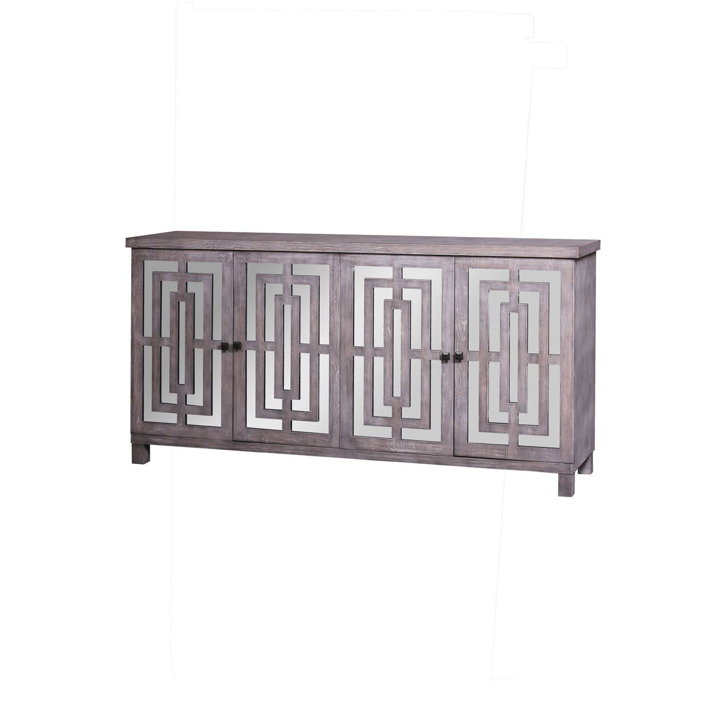 Abbott Gray Sideboard Harp & Finial Sideboards Buffets pertaining to 14 Inch Deep Sideboards (Image 2 of 15)