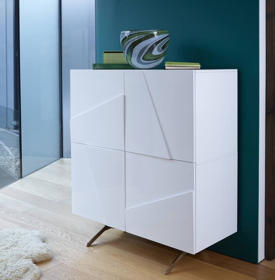 Abdabs Furniture – Glacier White Tall Buffet Sideboard Regarding White Buffet Sideboards (View 9 of 15)