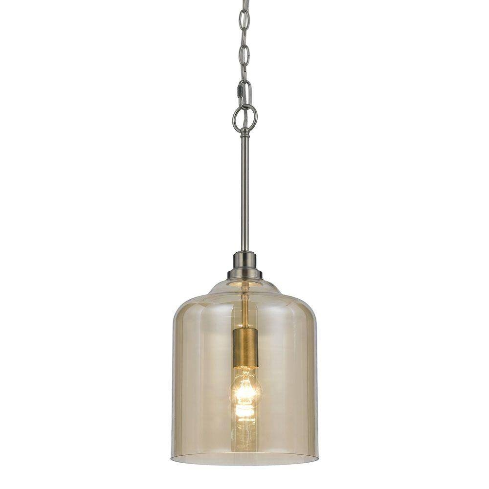 Af Lighting Vision 1 Light Soft Champagne Glass Pendant 8695 1p With Regard To Gold Glass Pendant Lights (View 6 of 15)