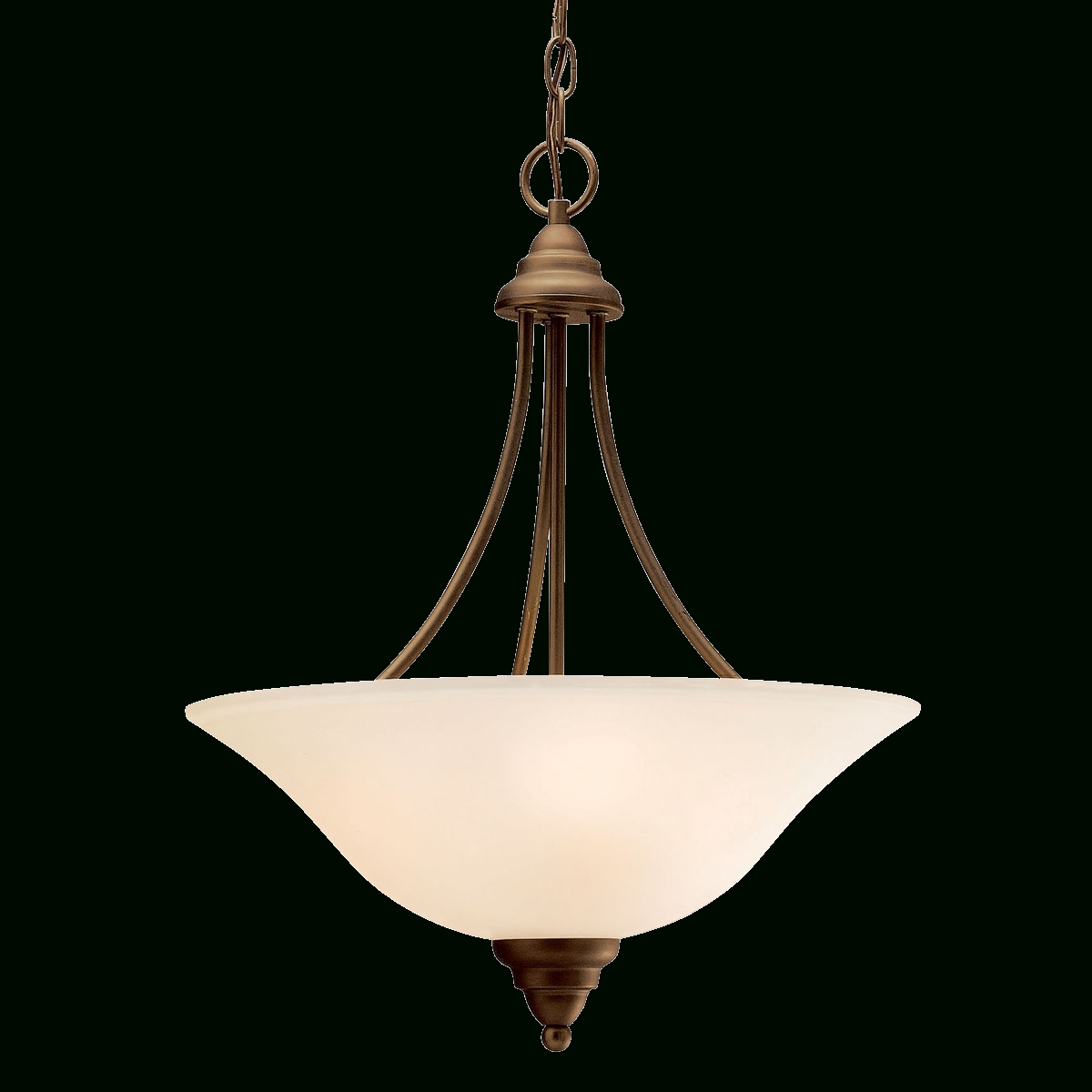 Affordable, Timeless 3 Light Inverted Pendant In Olde Bronze intended for Inverted Pendant Lighting (Image 1 of 15)