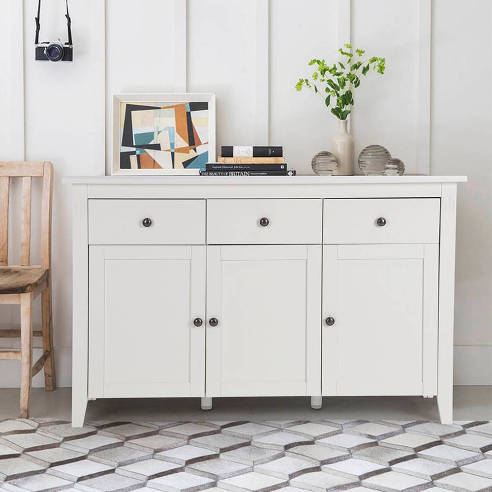 Aingoo Large Space White Minimalist Modern Sideboard/living Room in Sideboard Cabinets (Image 1 of 15)