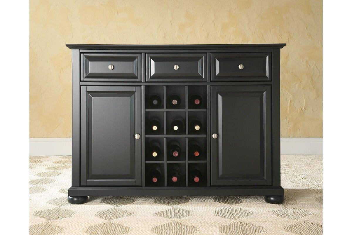 Alexandria Buffet Server / Sideboard Cabinet With Wine Storage In pertaining to Danville Sideboards (Image 1 of 15)