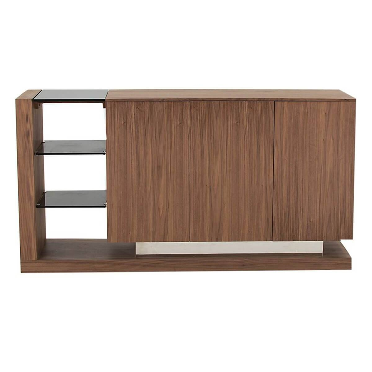 Almara Steel & Walnut Sideboard | Modern Sideboards | Fads Intended For Walnut Sideboards (View 15 of 15)