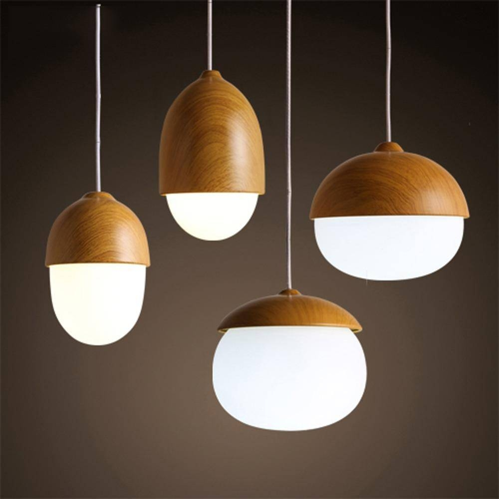 American Country Pendant Light Creative Wood Pendant Lamp Glass With Regard To Wooden Pendant Lighting (View 2 of 15)