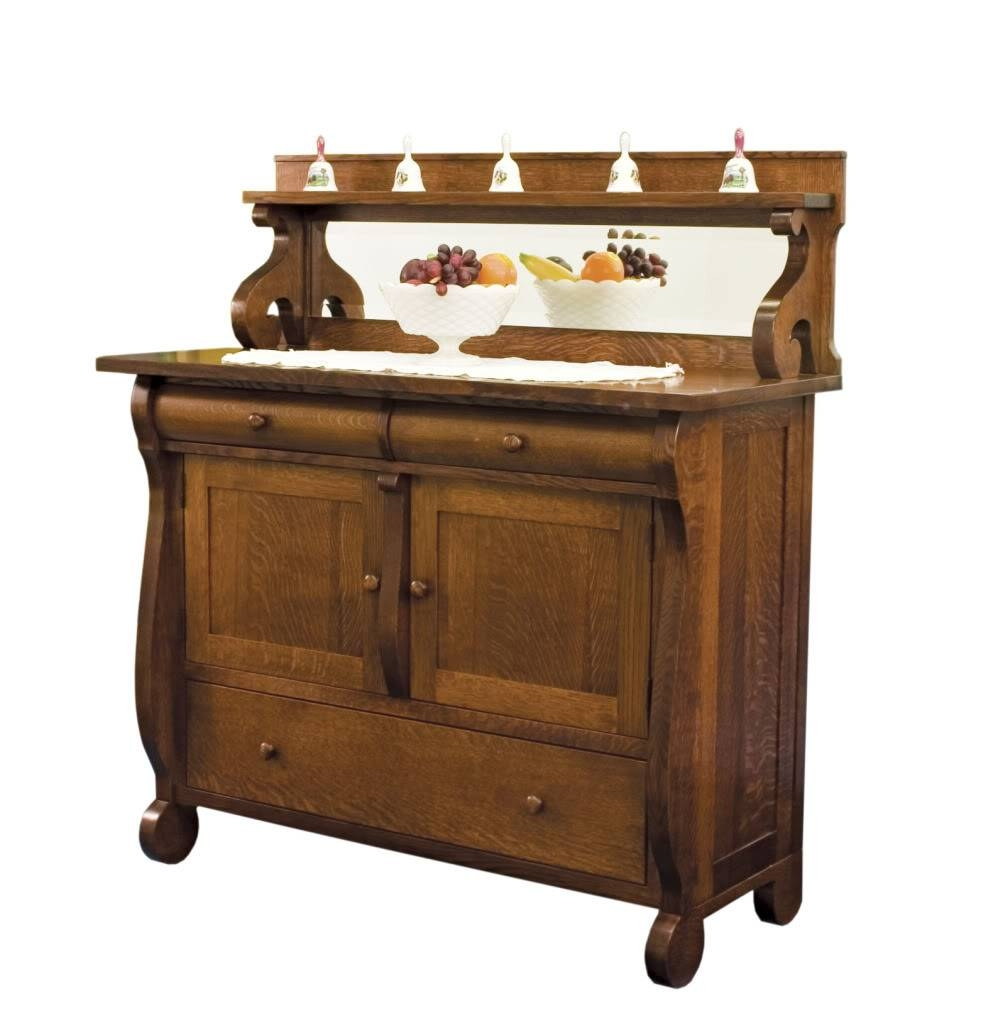 Amish Dining Room Sideboards Buffet Storage Cabinet Wood Antique With Regard To Sideboards Cabinets (View 15 of 15)