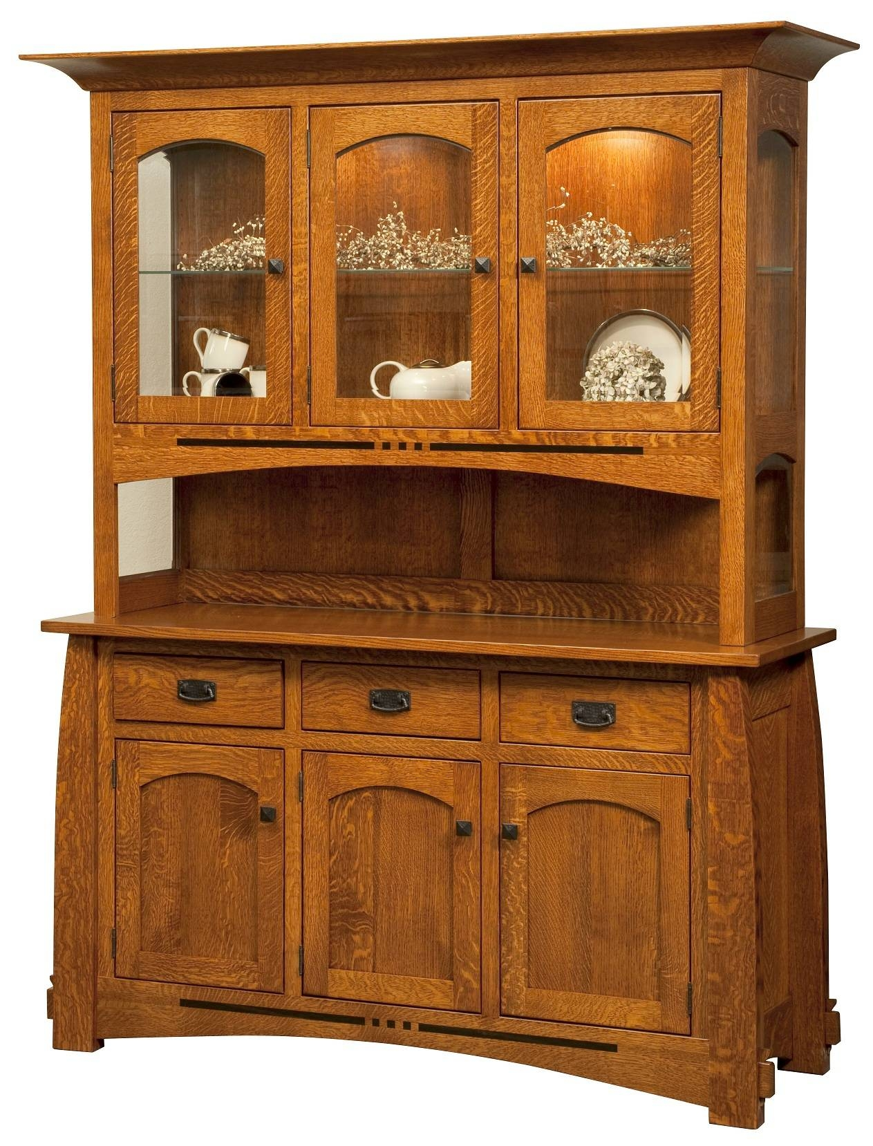 Amish Furniture – Mission Style Furniture – American Made inside Mission Style Sideboards (Image 1 of 15)
