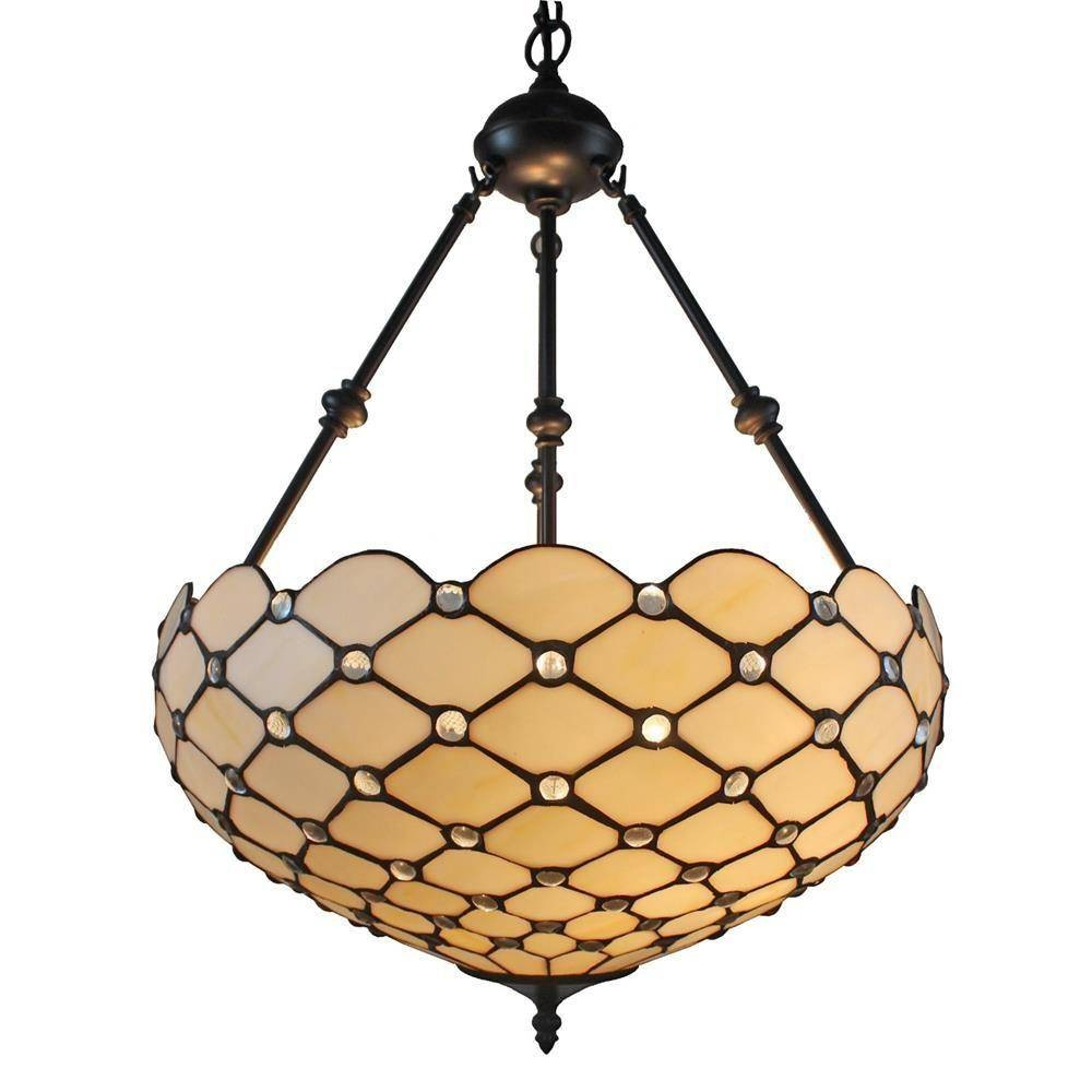 Amora Lighting 2 Light Tiffany Style And White Ceiling Hanging Within Tiffany Style Pendant Light Fixtures (View 6 of 15)