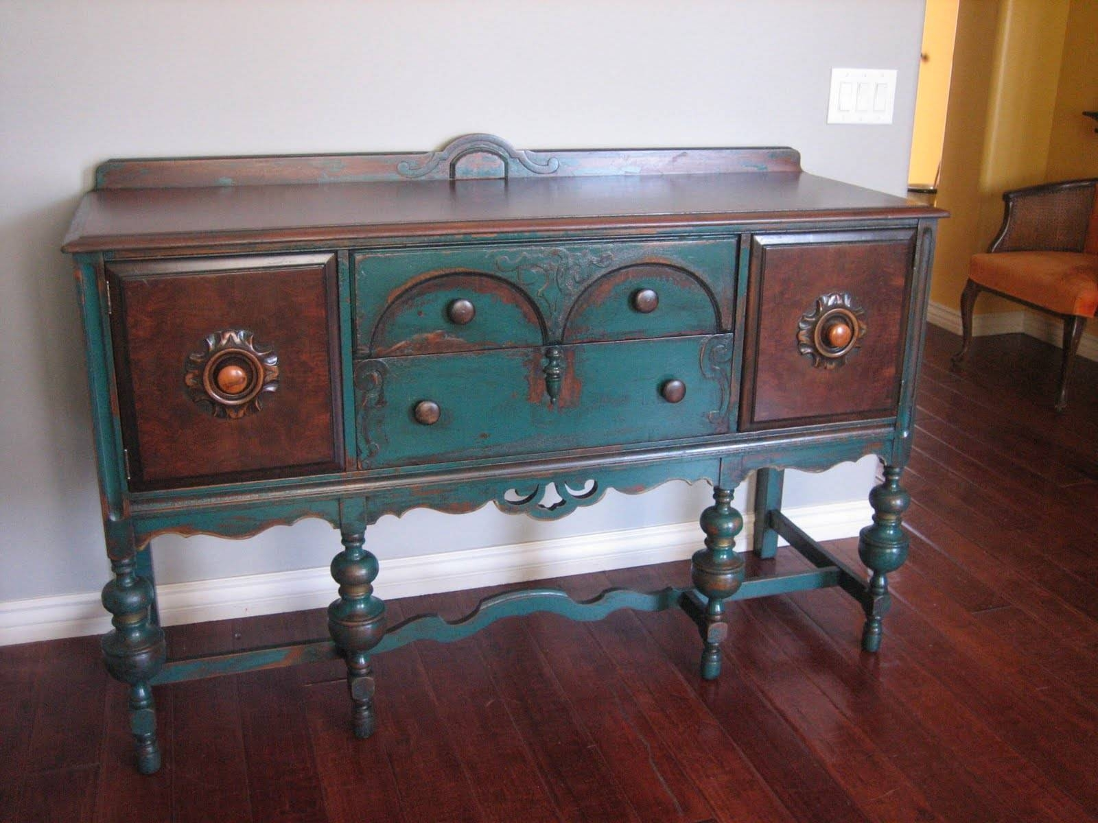 Amusing Painted Sideboards And Bffets intended for Painted Sideboards And Buffets (Image 1 of 15)