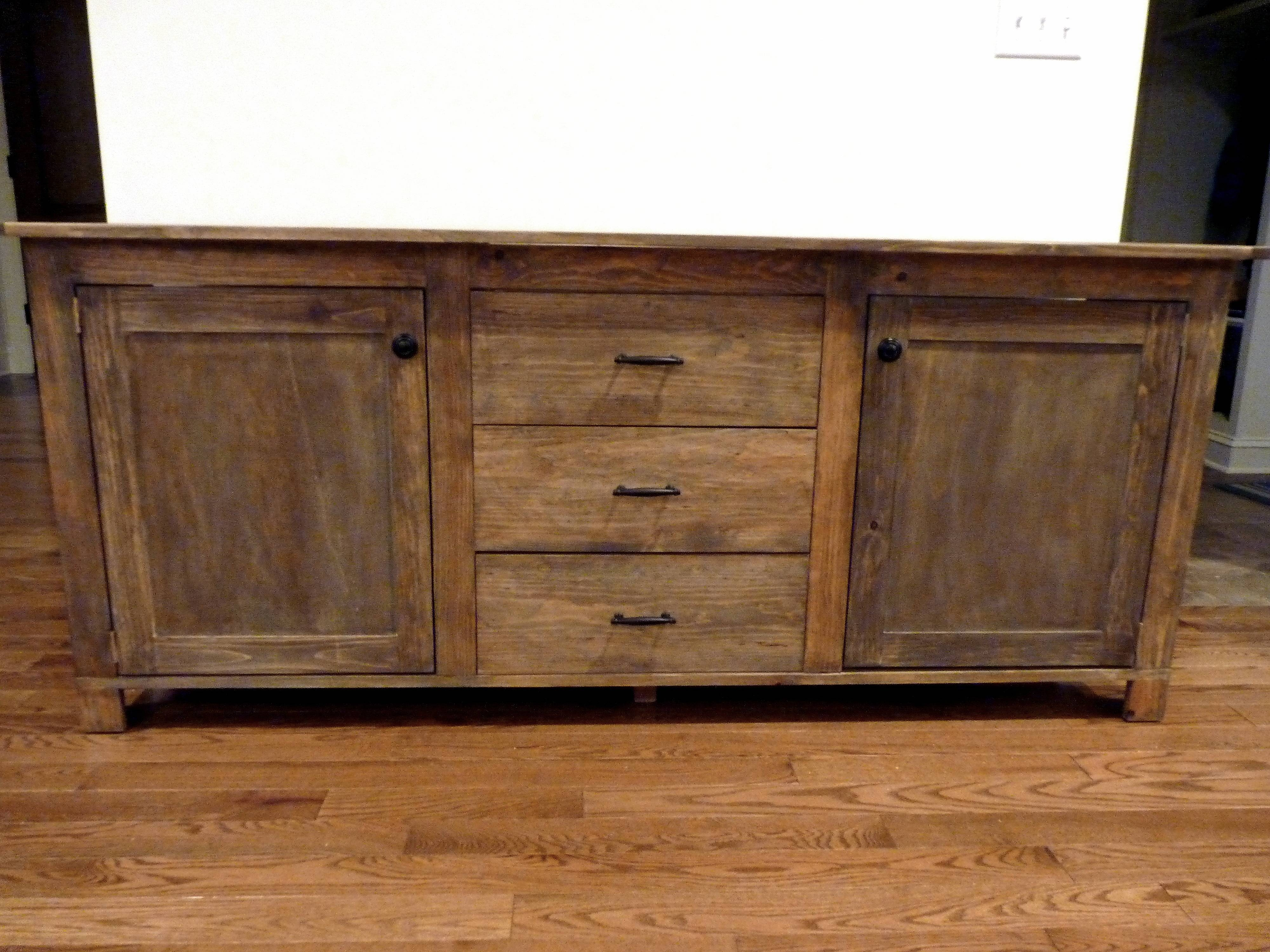 Ana White | Rustic Sideboard - Diy Projects intended for Rustic Sideboard Furniture (Image 2 of 15)