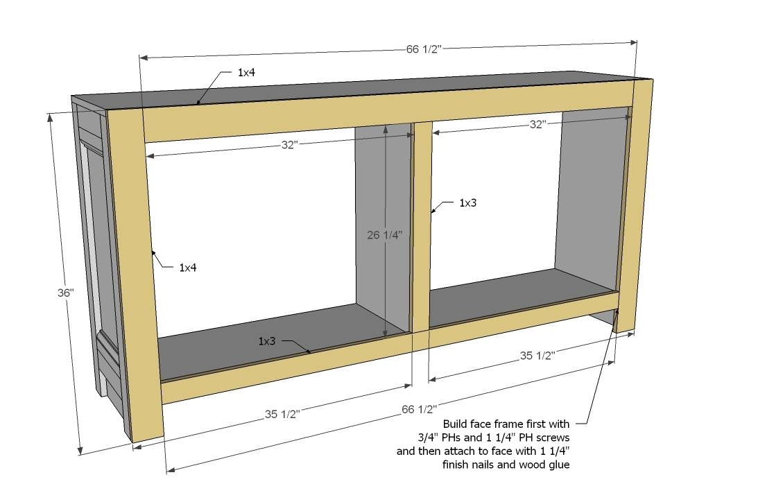Ana White | Shanty Sideboard – Diy Projects In Diy Sideboards (View 8 of 15)